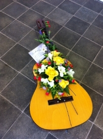 Guitar With Flowers Inset