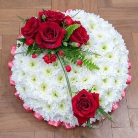 Red and White Posy Pad